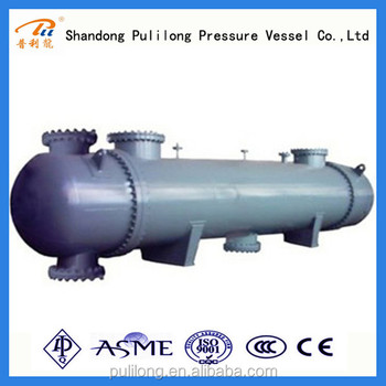 ASME shell and tube air condenser / heat exchanger for water and steam