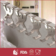 Person design decorative stainless steel utility over the door hook for hanging clothes