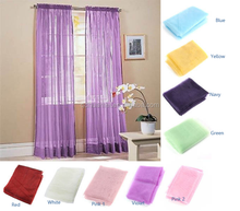 polyester voile sheer cheap window curtain for America sale