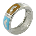 women's jewelry stainless steel material colorful epoxy ring