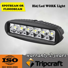 Multi-function led work light 3w Epistar led vehicles working lights 18w led driving work light