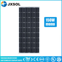 China supplier Tuv Ce Ul Mcs Ohsas18001 pv module/solar panel 150w mono for home solar energy system