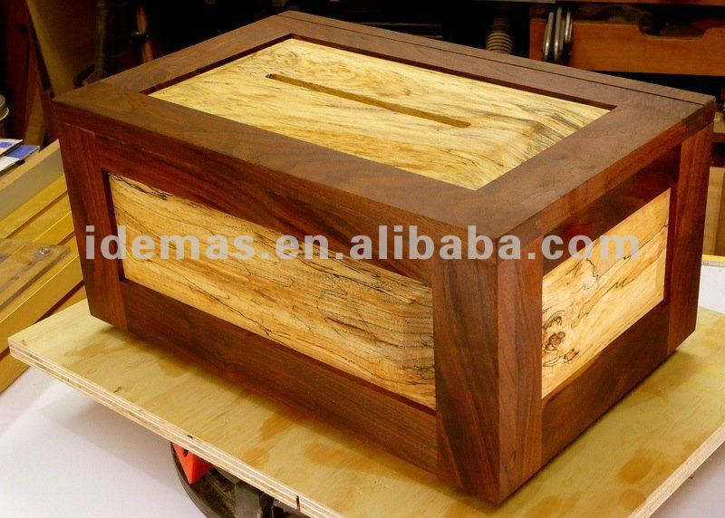 Wood Donation Box