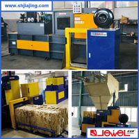 horizontal automatic hydraulic leftover material compress baling machine