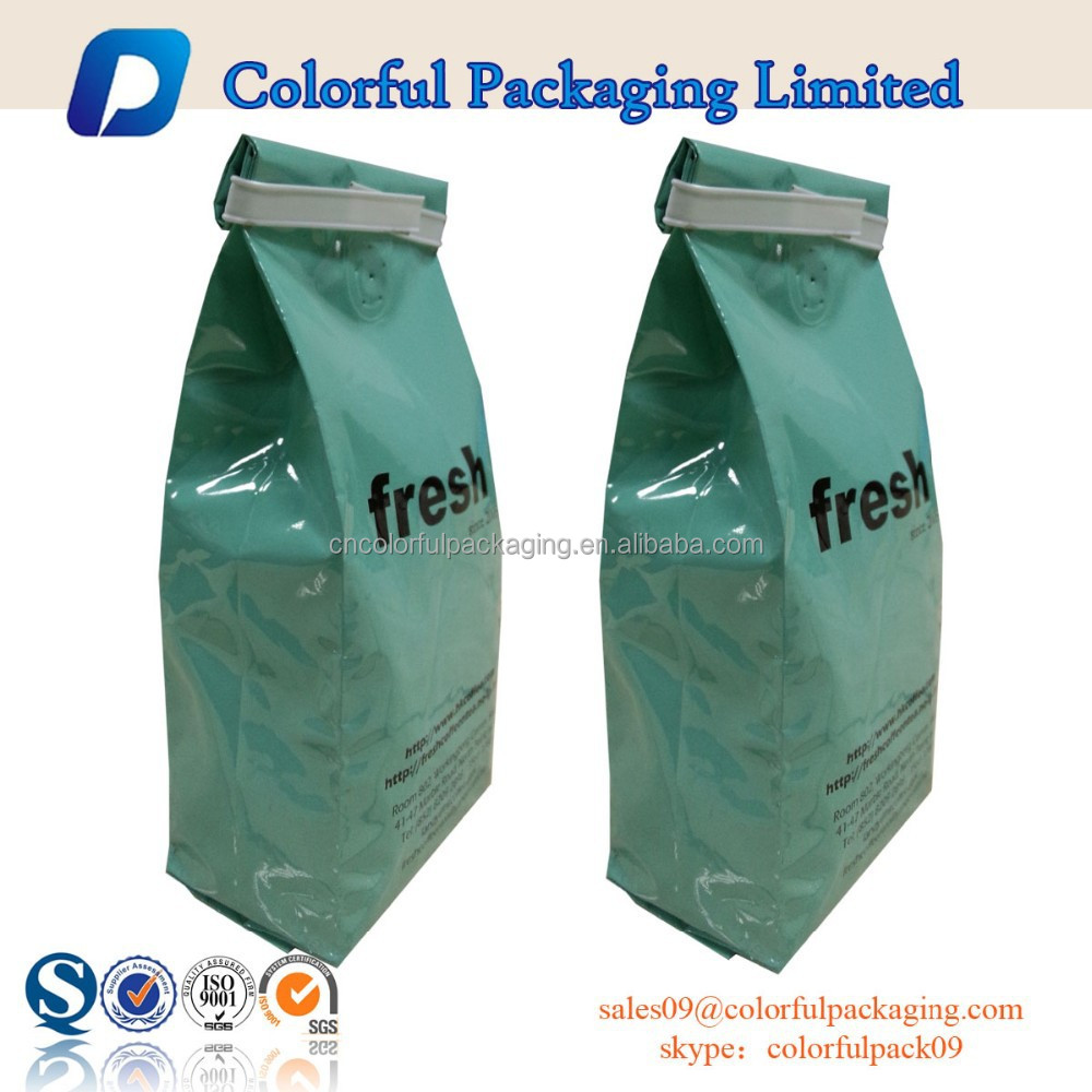 One Way Valve and Tin Tie Aluminum Foil Coffee Package Bags
