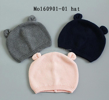 Cute style korean baby winter hat knitted factory sale
