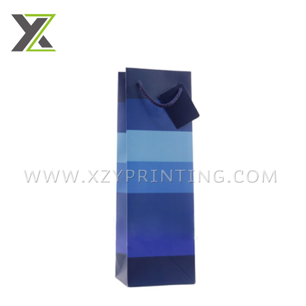Customize printing high quality pvc wine bag