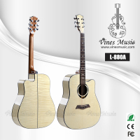 41 inch Cutaway acoustic flame maple guitar kit (L-880A)