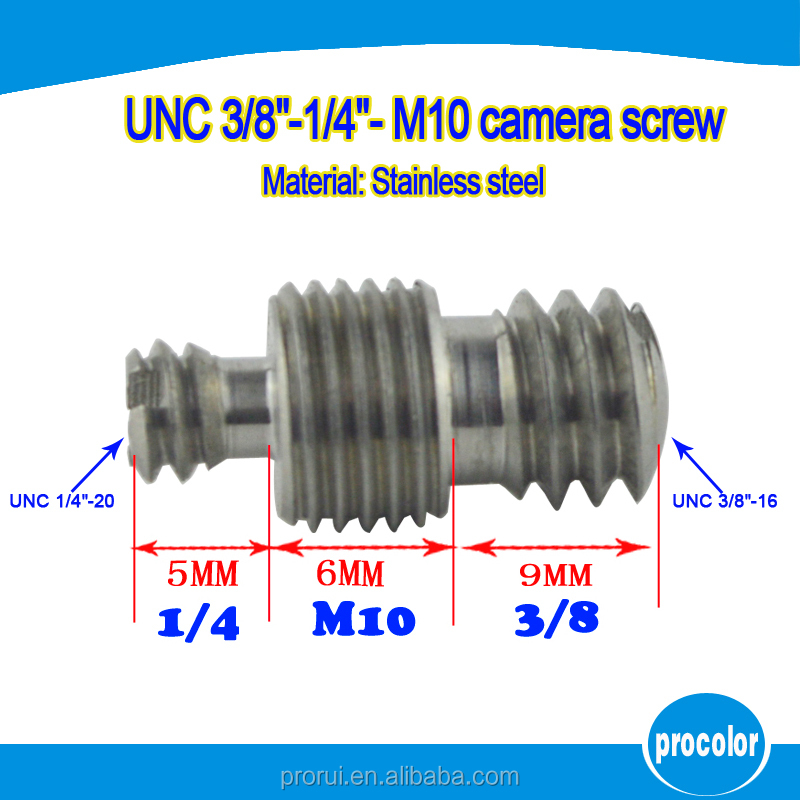 "<strong>Manufacturing</strong> stainless steel double end camera conversion screw nut 1/4""-<strong>M10</strong>-3/8"""