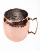 Moscow Mule Hammered Copper Barrel Mugs, Solid Copper Beer Mugs, Copper Drinking Mugs