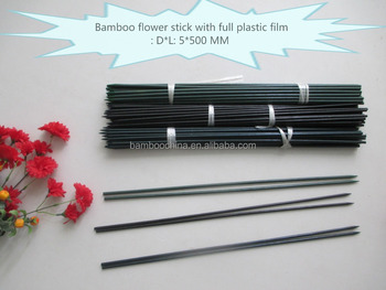 Every color bamboo flower sticks with full plastic film