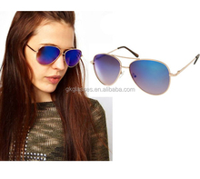 Metal aviator men sunglasses