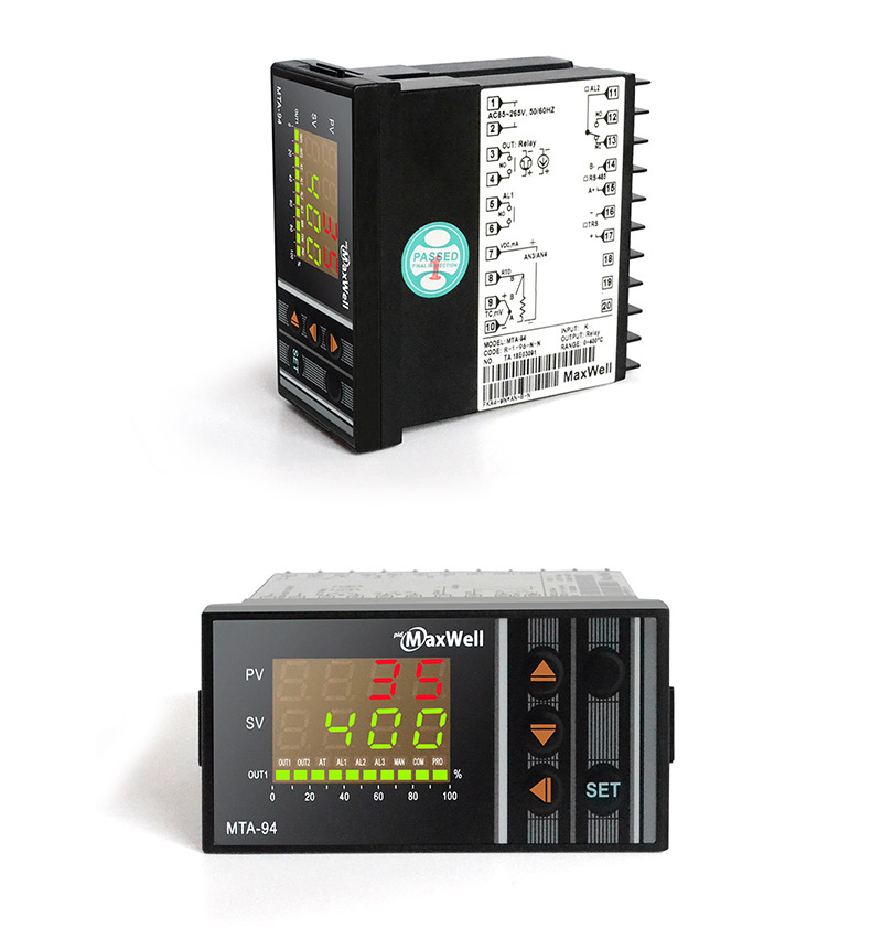 72*72 horizontal dual display pid controller for injection molding machine