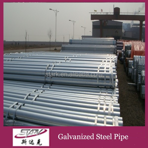 Short delivery time threaded galvanized steel pipe 1 1/4 inch