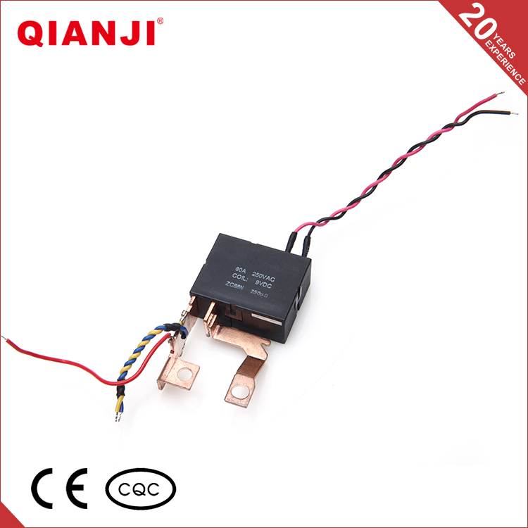 QIANJI Hot Selling Single Phase 24V 100A Miniature Latching Relay Step Relay