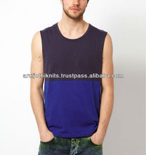 MEN'S CUT & SEW SLEEVELESS T SHIRT
