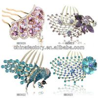 HH3020-3023 Wholesale Fancy Rhinestone Phoenix Hair Stick ,Women Hair Accessory