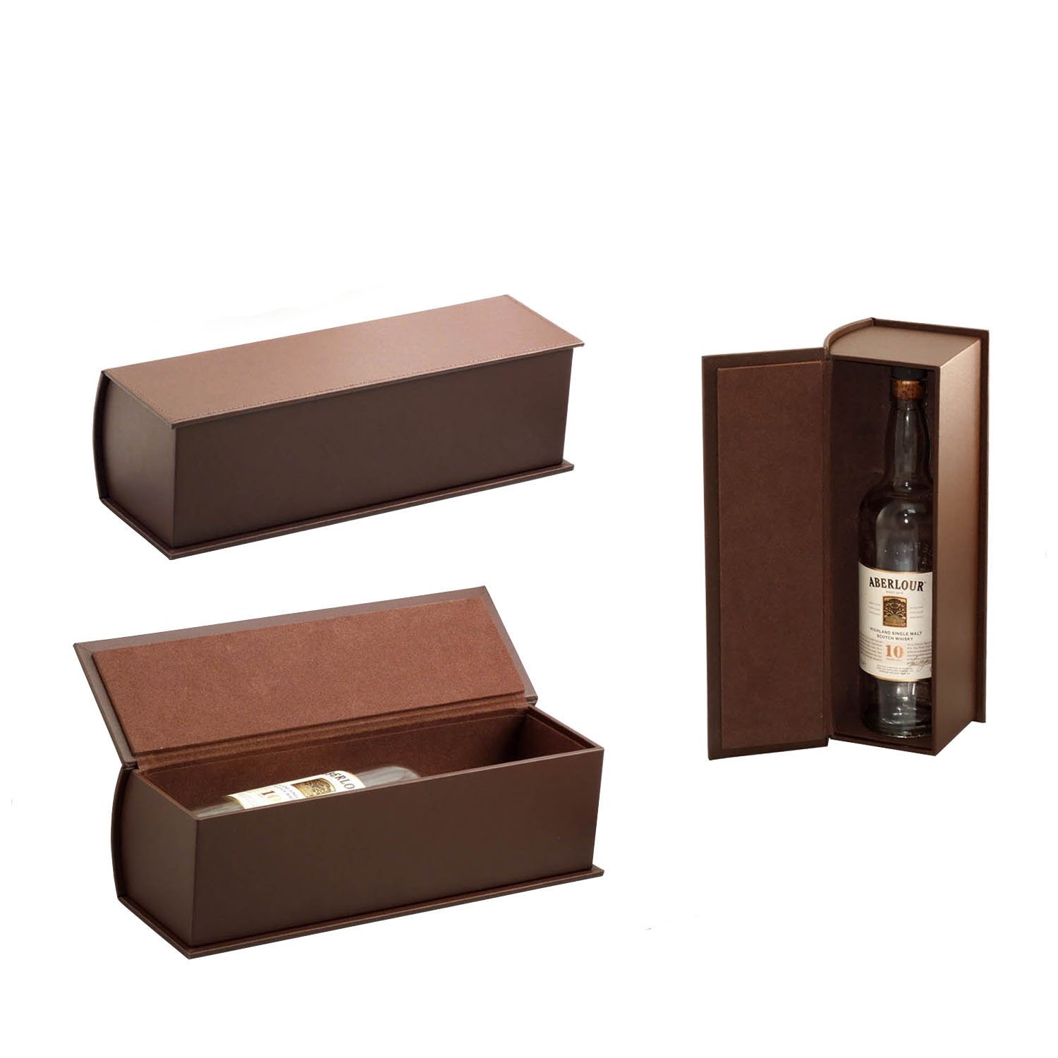 New design custom logo wooden book shaped box wine gift box