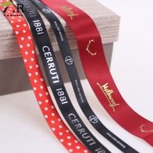 Wholesale Custom Printed Logo into colorful Satin Ribbon
