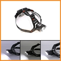 Rotate Adjustable Headl Lamp 2 in 1 2 R2+T6 3800lm 3 led Rechargeable bike headlamp