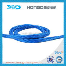 8mm uhmwpe rope 12 strand hollow braided rope winch rope