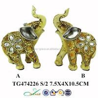 double resin elephant home decor animal brass statue