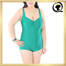 Super Size XL/XXL/XXXL Fat Mature Women One Piece Swimsuit Pink/Dark Green/Green Bathing Suit