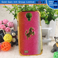 Luxury Brushed Metal Aluminum Plating Hard PC Back Cover Case For Samsung S4 Plating Cover