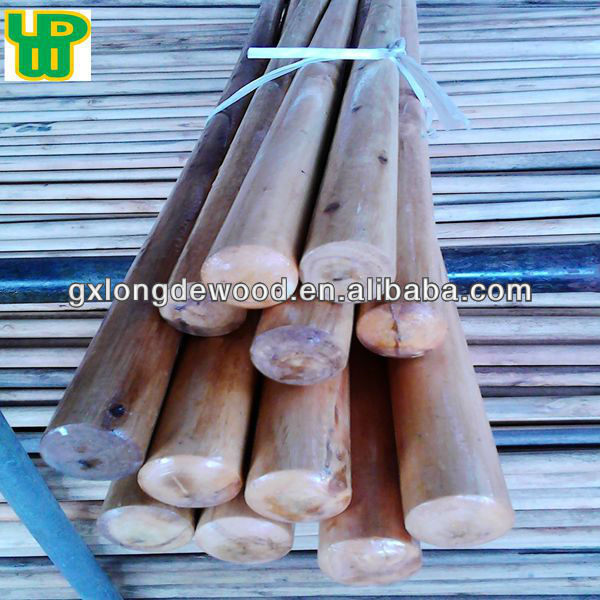 Professional Factory Direct Sale Varnished wooden mop pole