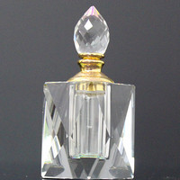 clear crystal glass empty perfume bottle for decoration use