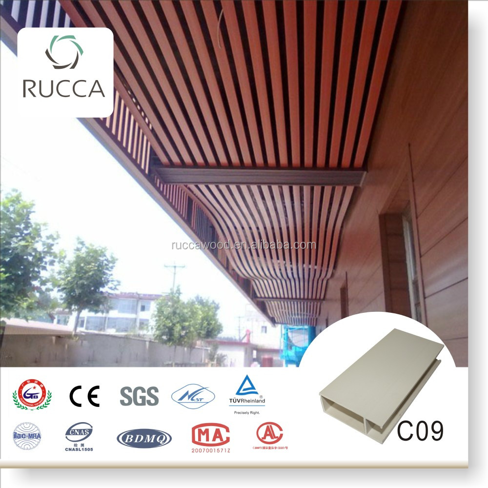 Hot Building Materials!Foshan Rucca WPC/ Wood Plastic Composite False Ceiling Decoration for Interior decoration 40*100mm