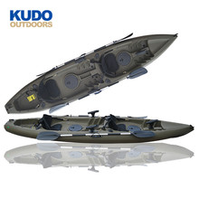 2018 New Design 3.8M Australia Fishing Kayak Top With Accessories