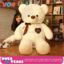 Soft stuffed pp cotton filling plush material bear type 200cm 300cm description of white teddy bear plush toy custom