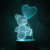 7 Color Changing Bear with Balloon Love 3D LED Lamp With Night Light Base