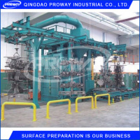 Overhead Conveyor Shot Blasting clear machine for small workpiece