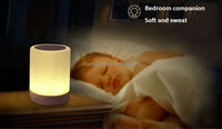 Portable Multifunctional Wireless Bluetooth Speaker Handsfree Touch LED Bedroom Lamp Support Memory Card Music Player