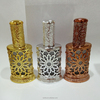 Arabic perfumes bottle dubai,metal oil bottle with glass stick for sale