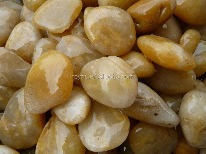 natural yellow large river rock stones