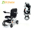 Lightweight foldable electric wheelchair with brushless motor