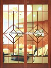 Glass Interior Decorative Sliding Doors Design DJ-S407
