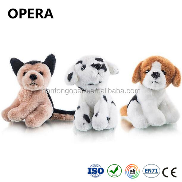 good quality cute small sitting animal puppy soft stuffed plush dog toys 10 pack