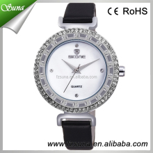 Skone SK9284 Diamond Leather Luxury Wholesale Name Brand Watch