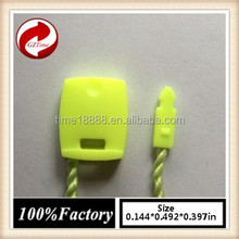 quality string seal tag, hang tag string, garment plastic seal tag/ Fluorescent green string seal string tying machine