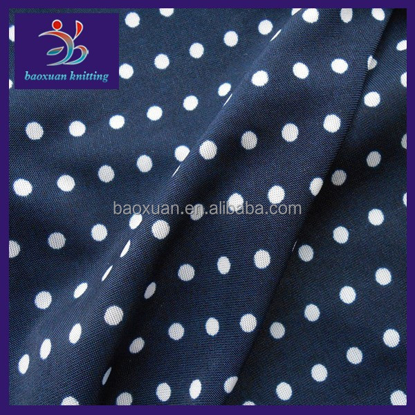 Waterproof knitted stretch polyester fabric with dot pattern