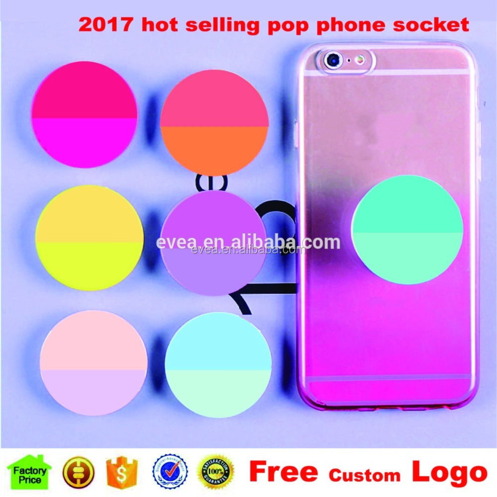 Hot sale universal pop cell phone holder sockets, Customized Logo pop grip mobile phone holder socket for cell phone