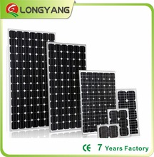 100W 200W 300W monocrystalline PV solar panel for solar energy project