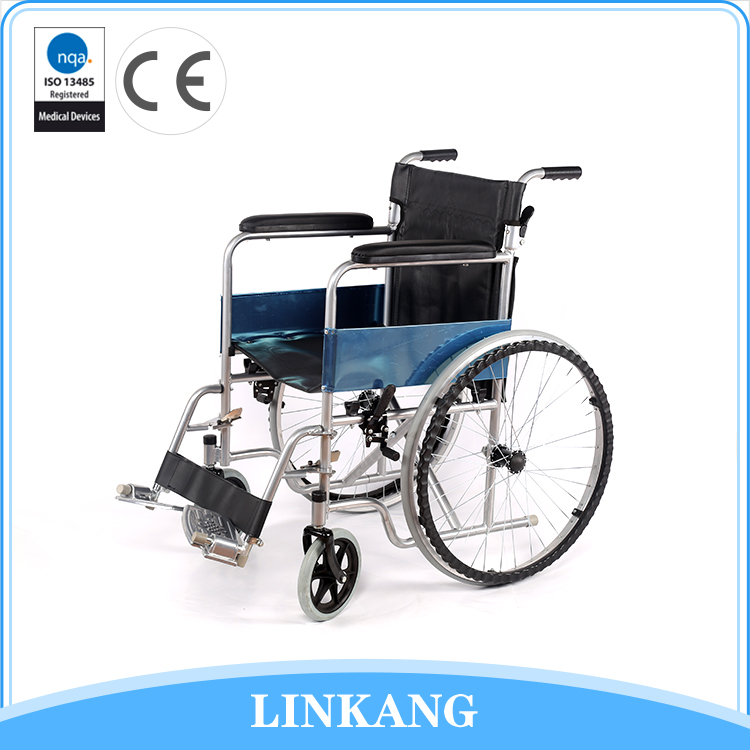 High quality custom steel folding commode wheelchair