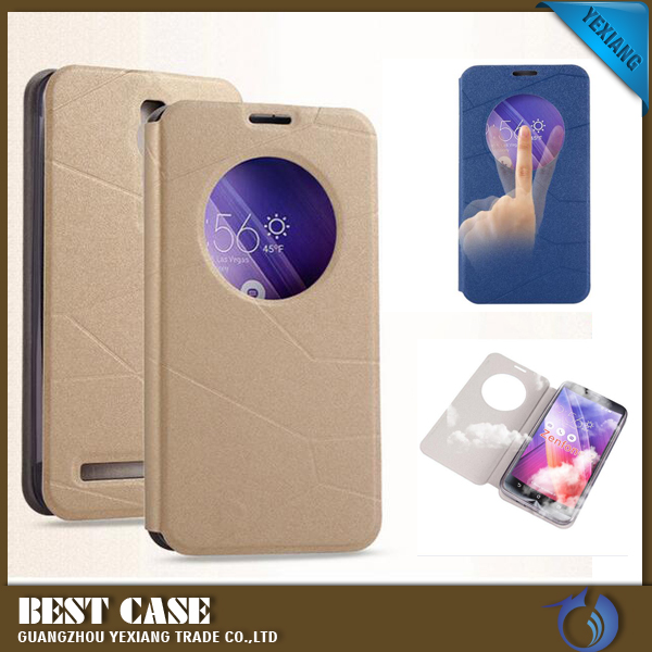2016 cheap price smart waterproof case leather flip cover for asus zenfone 2 cover