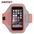 Haissky new wholesale lycra+reflective fabric running mobile armband for outdoor fitness sports and GYM