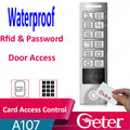 IP65 waterproof 125khz Rfid Card reader with metal keypad